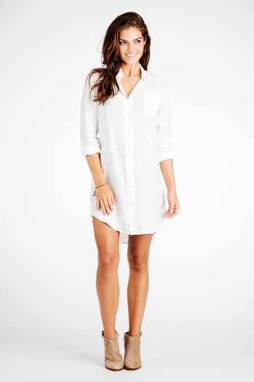 Linen Portland Shirtdress by Faherty in A Bigger Splash