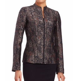 Eliza Zip-Front Jacquard Jacket by Lafayette 148 New York in How To Get Away With Murder
