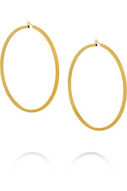 Gold-Plated Hoop Earrings by Jennifer Fisher in Drive