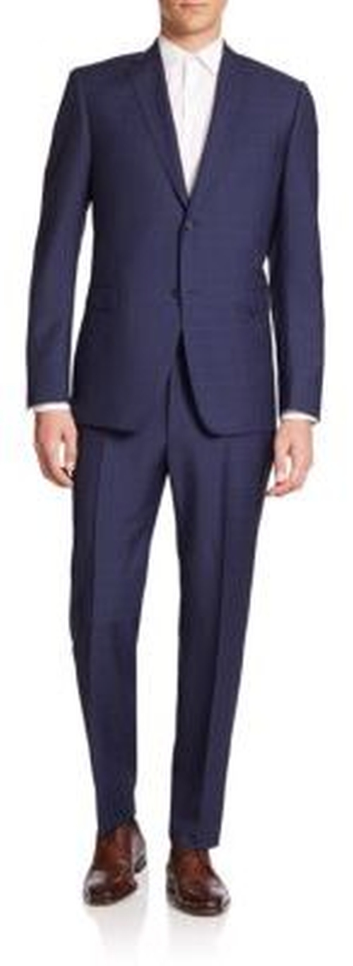 Two-Button Windowpane Suit by Z Zegna in Empire - Season 2 Episode 7