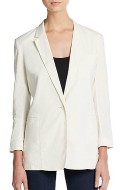 Lousine Linen-Blend Blazer by Theory  in The Nice Guys