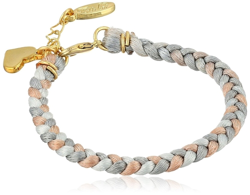 Earth Braided Satin Cord Bracelet by Ettika in 99 Homes