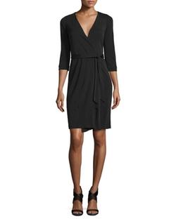 New Julian Two Matte Jersey Wrap Dress by Diane von Furstenberg in Unbreakable Kimmy Schmidt