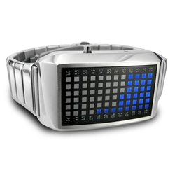 PIMP Pimpin Aint Easy SS Blue LED Watch by Tokyo Flash  in Captain America: Civil War