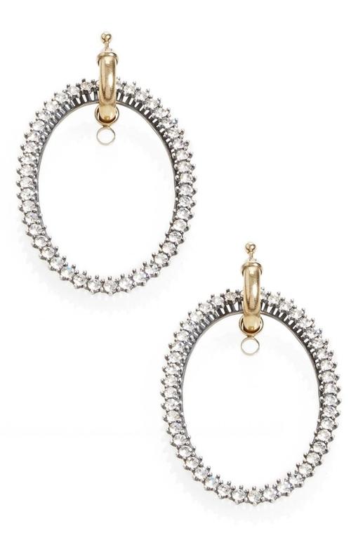 Drop Hoop Earrings by Vetements in Ride Along 2
