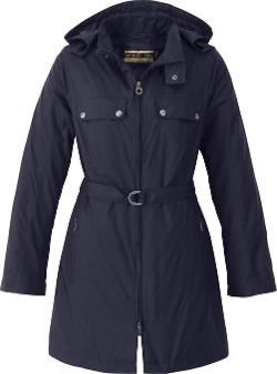 Belted Lightweight Water Resistant Trench Coat Jacket by North End in If I Stay