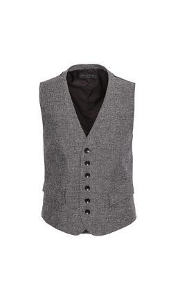 Grosvenor Melange Waistcoat by Rag & Bone in Lee Daniels' The Butler