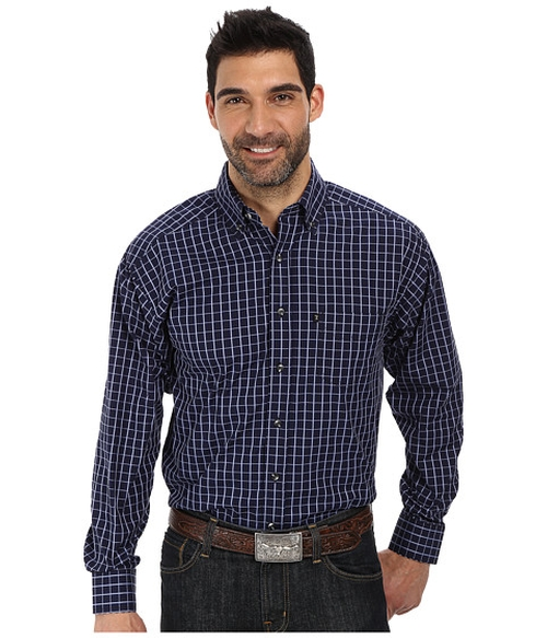 Long Sleeve Button Down Shirt by Tuf Cooper by Panhandle in Clueless