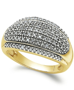 Rose-Cut Diamond Dome Ring by Victoria Townsend in Dope