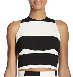 Orchard Striped Cropped Top by Nicholas in Scream Queens