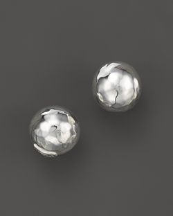 Glamazon Sterling Silver Hammered Ball Stud Earrings by Ippolita in Scream Queens