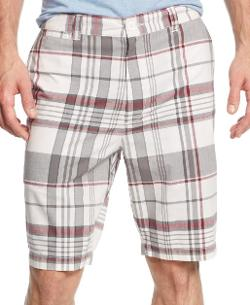 Flat Front Plaid Shorts by Club Room in Neighbors