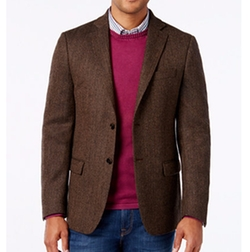 Soft Wool Herringbone Sport Coat by Lauren Ralph Lauren in Live By Night