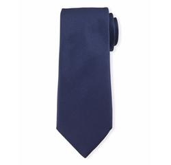 Textured Solid Silk Tie by Ermenegildo Zegna in Suits