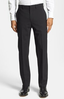 Flat Front Stretch Wool Pants by Michael Kors in Drive