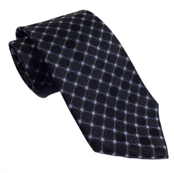 Silk Tie Micro Check Print by Tommy Hilfiger in Ballers