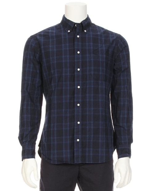 Vintage Tonal Indigo Plaid Shirt by Gitman Brothers Vintage in Modern Family