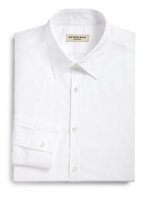 Treyforth Solid Dress Shirt by Burberry London in Yves Saint Laurent