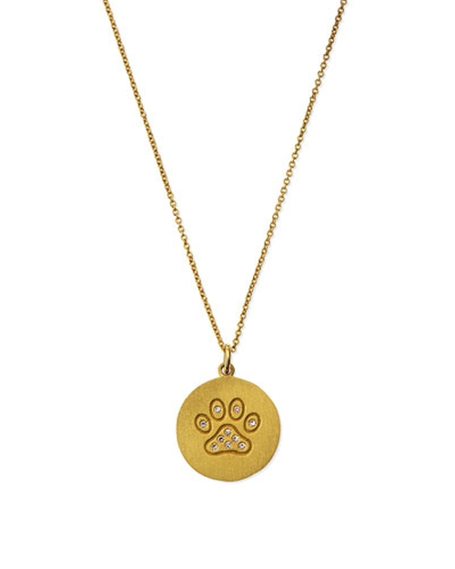 Paw Disc Pendant Necklace by Roberto Coin in Suits - Season 5 Episode 9