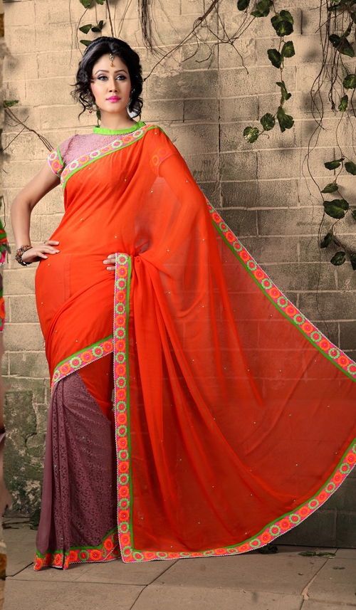 Georgette Nett Saree by Indian Fashion Trend in The Second Best Exotic Marigold Hotel