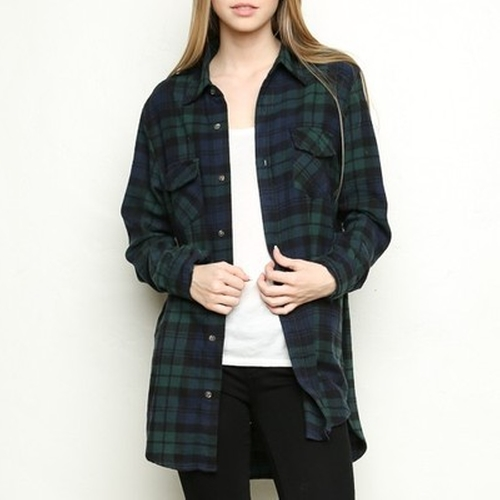Roseanne Flannel Shirt by Brandy Melville in Keeping Up With The Kardashians - Season 12 Episode 3