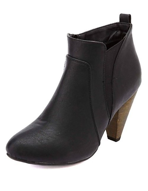 Elasticized Cone Heel Ankle Boots by Charlotte Russe in This Is Where I Leave You