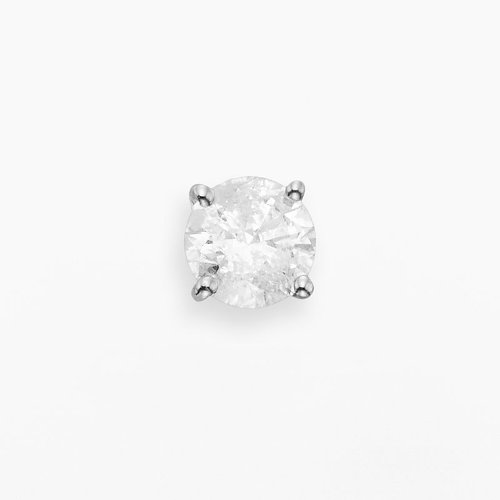 Single 14k White Gold Diamond Stud Earring by Kohl's in Hall Pass