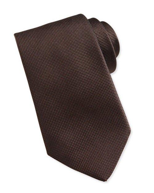 Solid Woven Silk Tie by Ermenegildo Zegna in The Loft
