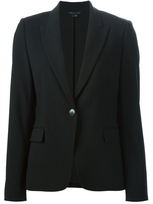 Peaked Lapel Blazer by Theory in Scandal - Season 5 Episode 4