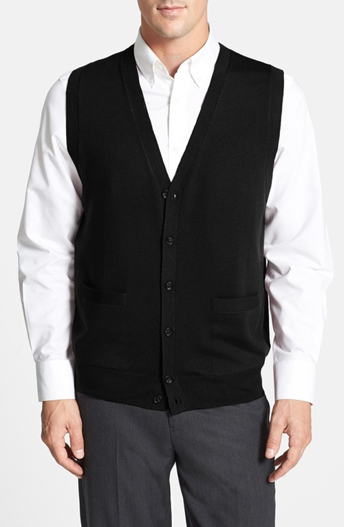 Button Front Merino Wool Vest by Nordstrom in Youth