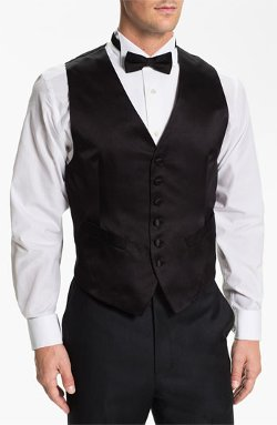 Silk Vest by David Donahue in Black or White