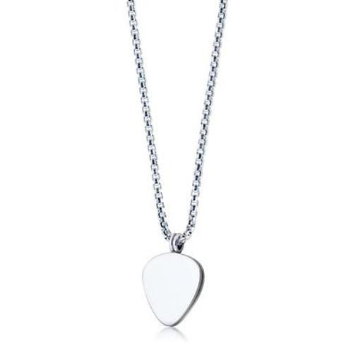Mens Sterling Silver Signature Guitar Pick Necklace by Shimmer & Stone in New Year's Eve