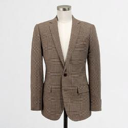 Thompson Sportcoat In Glen Plaid Linen-cotton by J.Crew Factory in St. Vincent