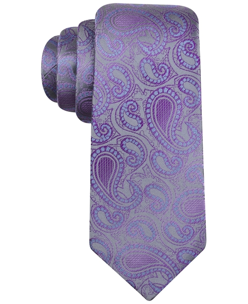 Fall Tortola Paisley Slim Tie by Alfani Spectrum in Inherent Vice