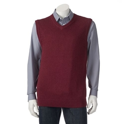 Classic-Fit Solid Sweater Vest by Croft & Barrow in The Big Bang Theory