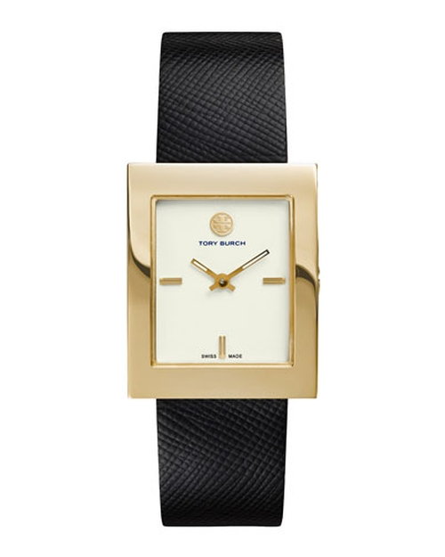 Buddy Classic Leather-Strap Watch by Tory Burch Watches in The Martian