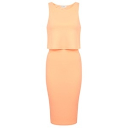 Fluro Over Layer Pencil Dress by Miss Selfridge in Scream Queens