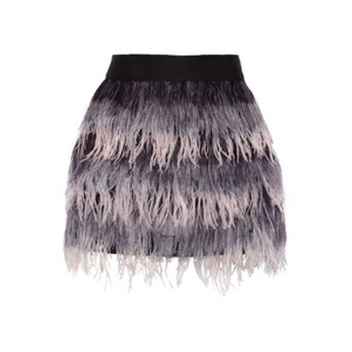 Feather and Silk Mini Skirt by Milly in Scream Queens