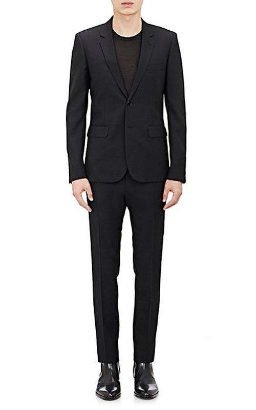 Wool Gabardine Two-Button Suit   by Saint Laurent  in Billions - Season 1 Episode 2
