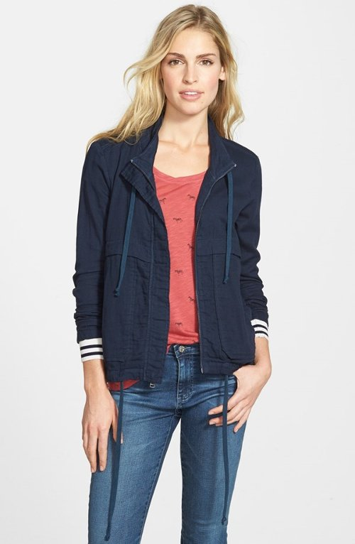 Zip Front Safari Jacket by Splendid in While We're Young