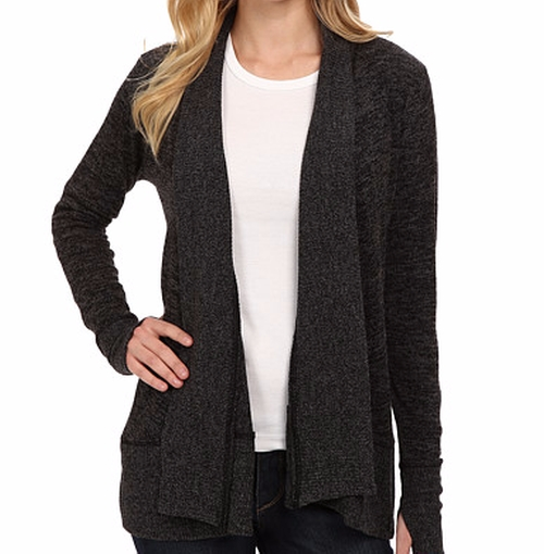 Heather Shawl Collar Cardigan Sweater by Mod-O-Doc in Criminal