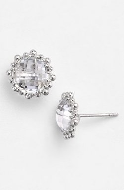'Dew Drop' Stud Earrings by Anzie in Spy
