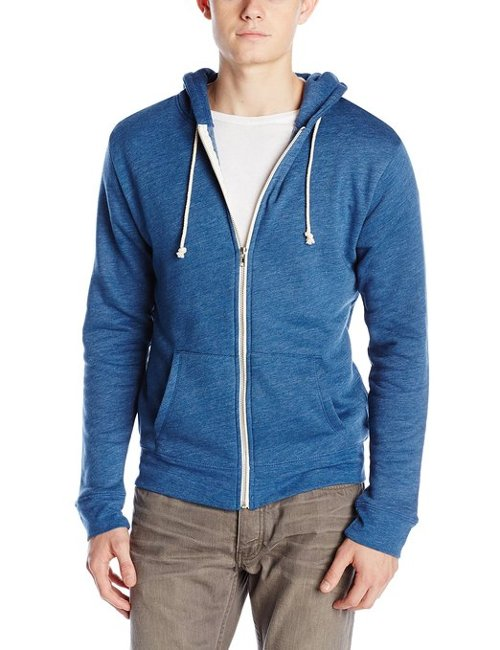 Men's Triblend Zip-Front Hoodie Jacket by Threads 4 Thought in Entourage