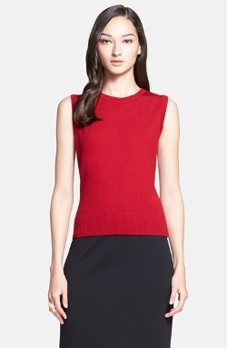Wool Jersey Shell Top by St. John Collection in Self/Less