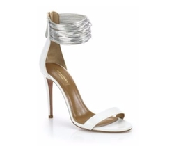 Spin Me Around Leather Ankle-Strap Sandals by Aquazzura in Jane the Virgin