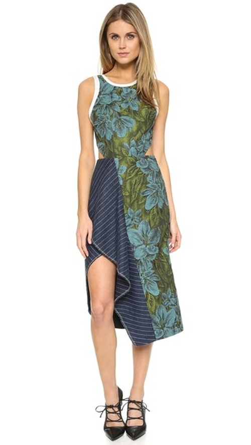Cascading Ruffle Floral Dress by 3.1 Phillip Lim in Mistresses