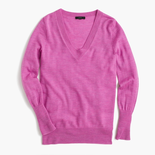 Merino Wool V-Neck Sweater by J.Crew in Modern Family