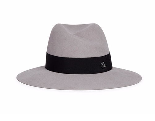 Virginie Swirl Rabbit Furfelt Fedora Hat by Maison Michel in Keeping Up With The Kardashians