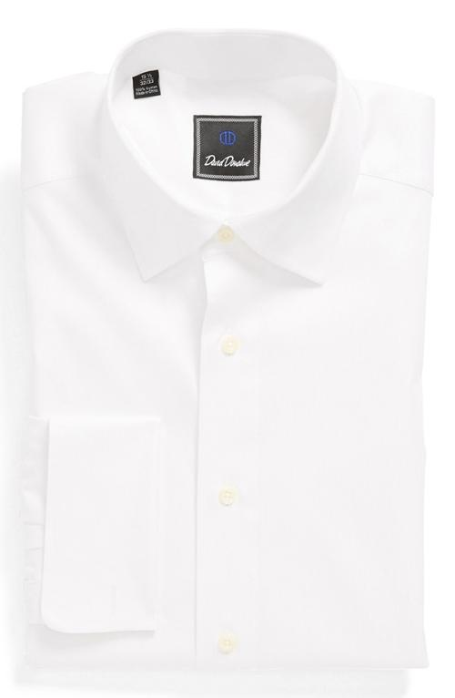 Twill French Cuff Regular Fit Dress Shirt by David Donahue in Wish I Was Here
