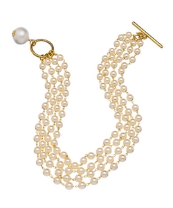 Layered Glass Pearl Necklace by John Wind in The Good Wife